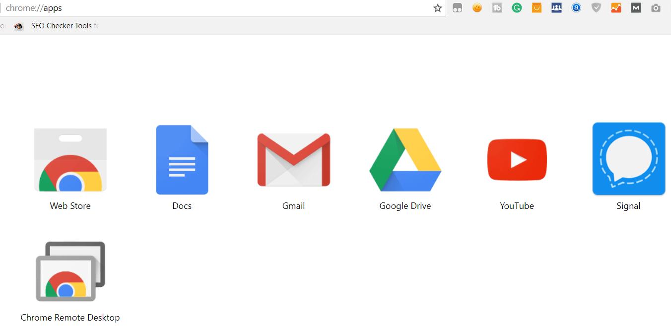 Google Chrome - Apps