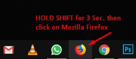 Safe Mode Start in Firefox