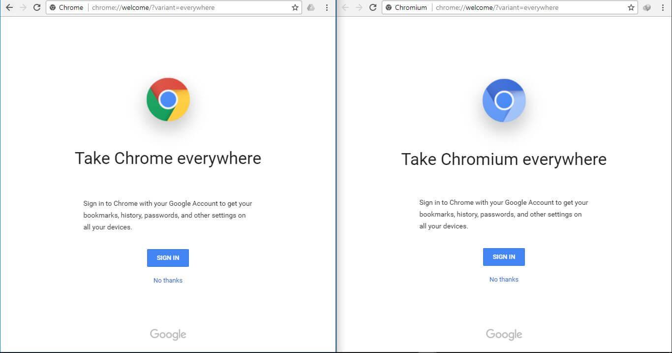 Chrome Parameter