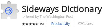 Sideways Dictionary
