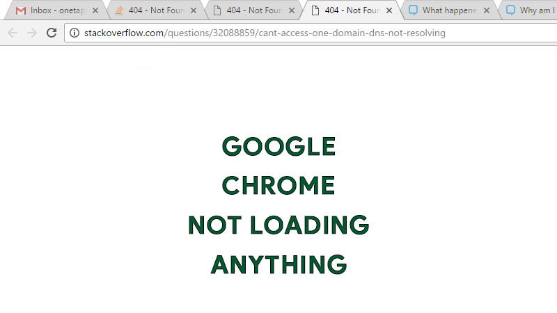 Google Chrome Not Laoding Anything