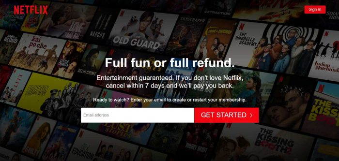 Why Netflix free trial is not working?