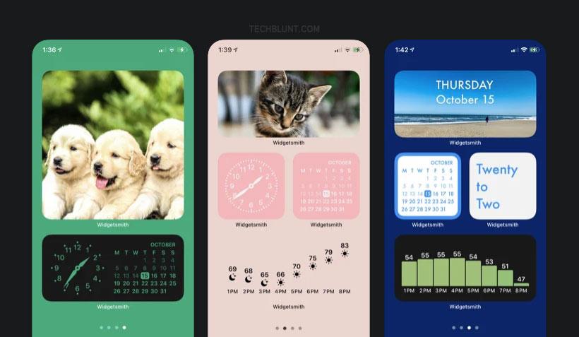 How to use widgetsmith app on iPhone